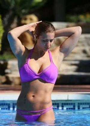 Gemma Atkinson in Purple Bikini 2016 -06