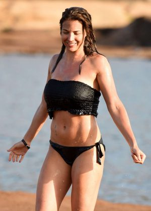 Gemma Atkinson in Black Bikini in Cape Verde