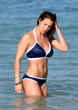 Gemma Atkinson in Blue Bikini in Kap Verde