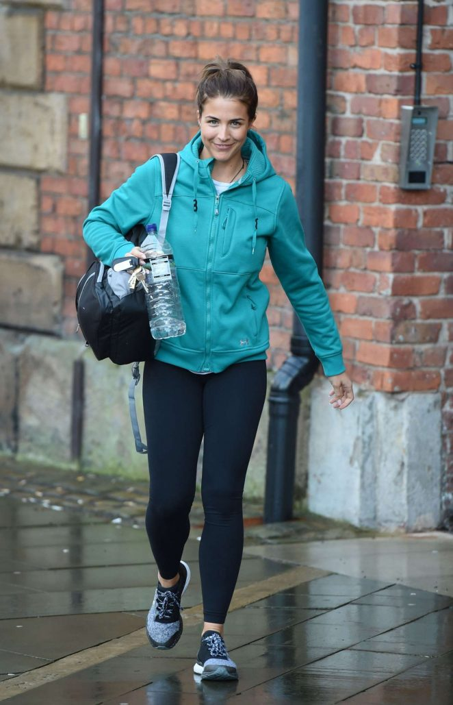 Gemma Atkinson in Tights at Key Radio in Manchester