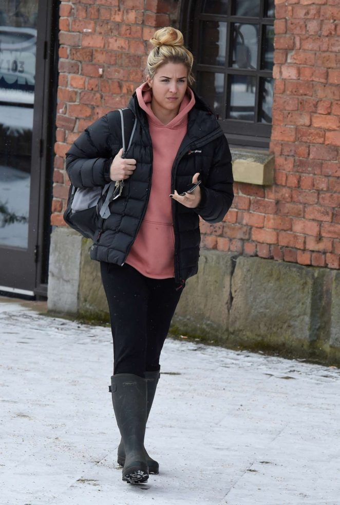 Gemma Atkinson - Leaving Key 103 Radio Station in Manchester
