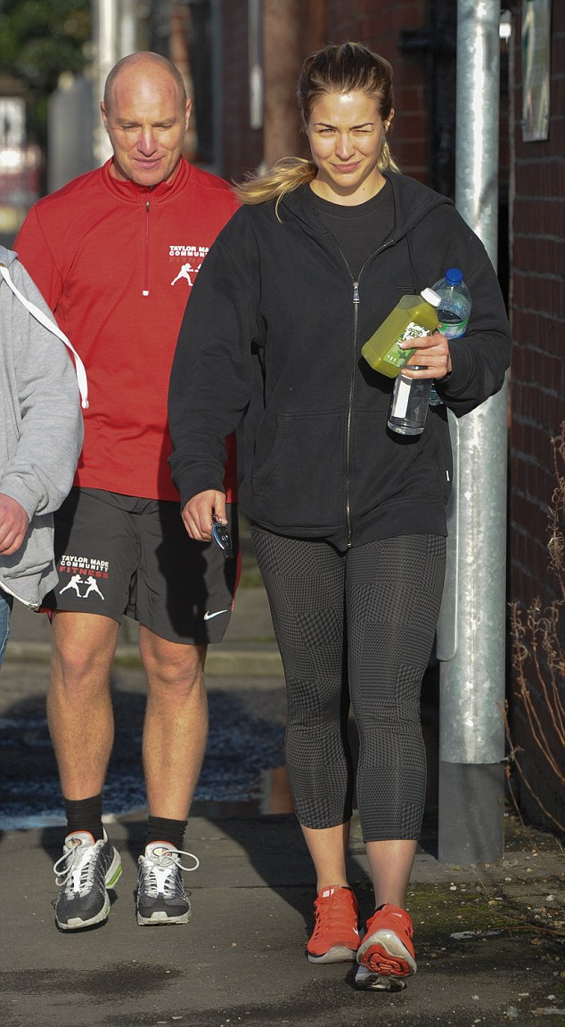 Gemma Atkinson in Tights Leaving the gym in Manchester