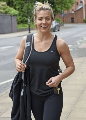 Gemma Atkinson - Leaving the Gym in Manchester