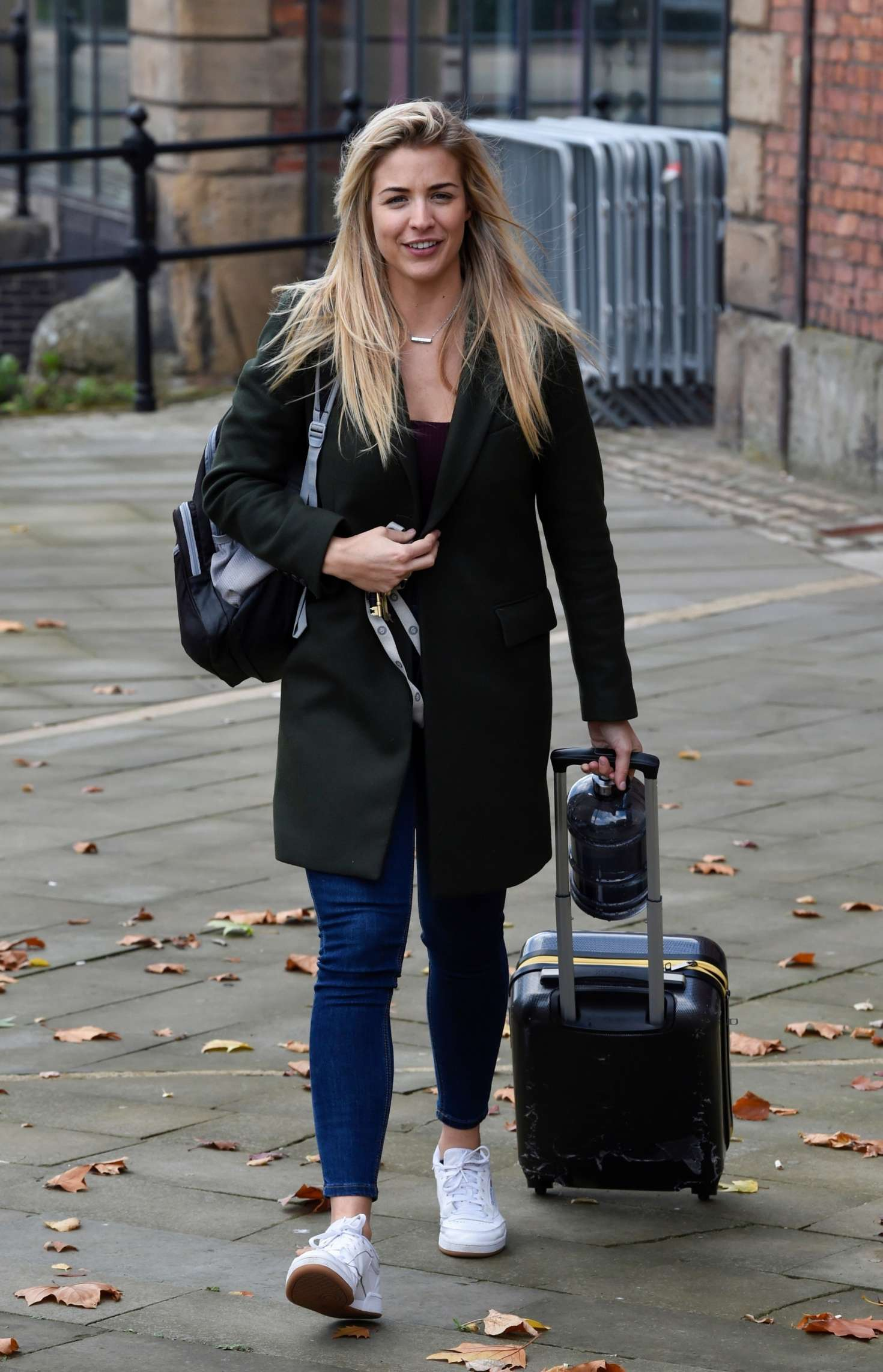 Gemma Atkinson - Leaving The Hits Radio Station in Manchester
