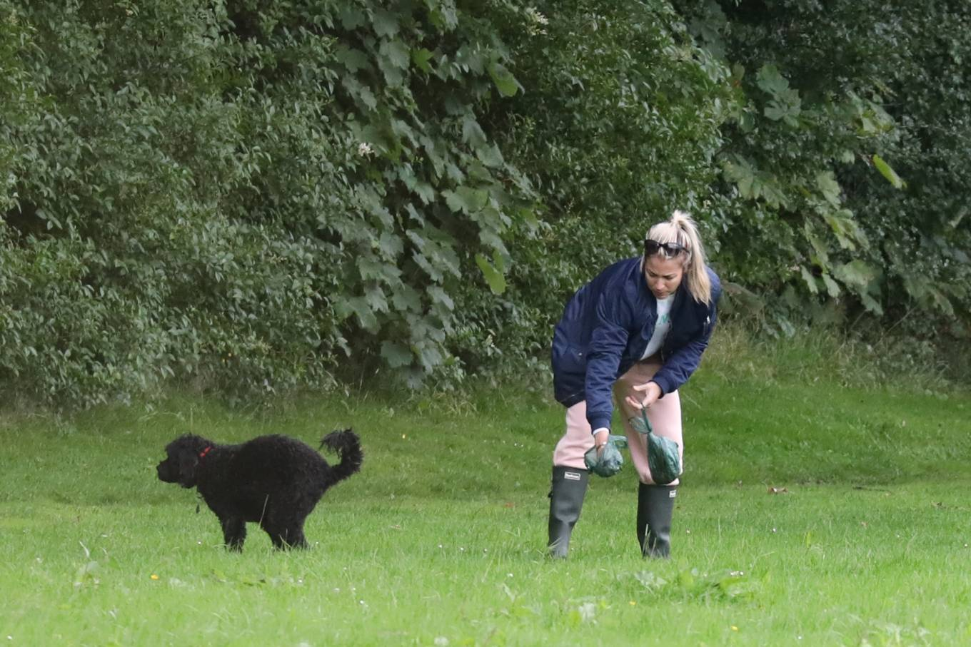 Gemma Atkinson 2020 : Gemma Atkinson – Out for a morning dog walk in Manchester-09