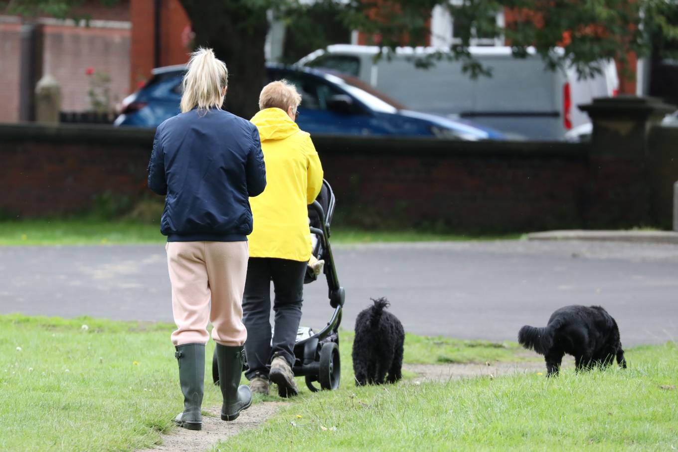 Gemma Atkinson 2020 : Gemma Atkinson – Out for a morning dog walk in Manchester-10