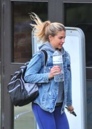 Gemma Atkinson - Seen while going to Strictly Come Dancing rehearsals in Liverpool