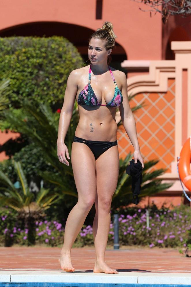 Gemma Atkinson in a Bikini in Puerto Banus