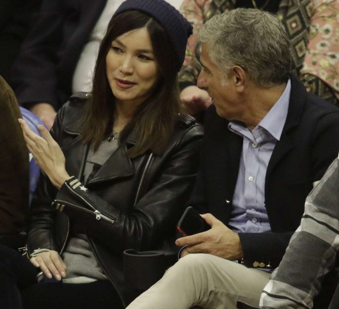 Gemma Chan at Los Angeles Lakers Vs The Clippers Game in Los Angeles