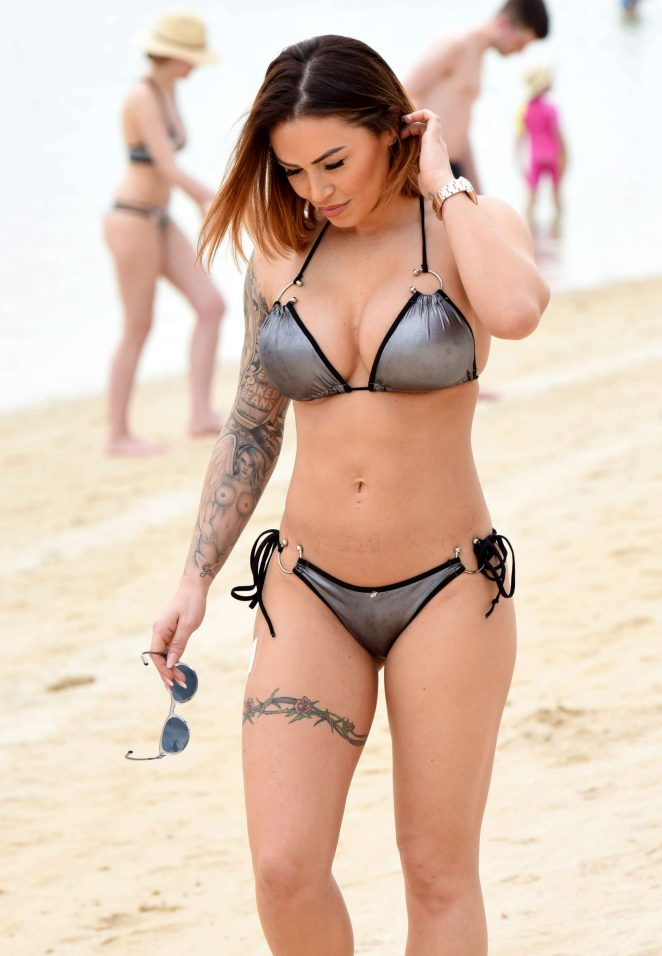 Gemma Massey in Bikini on the beach in Dubai