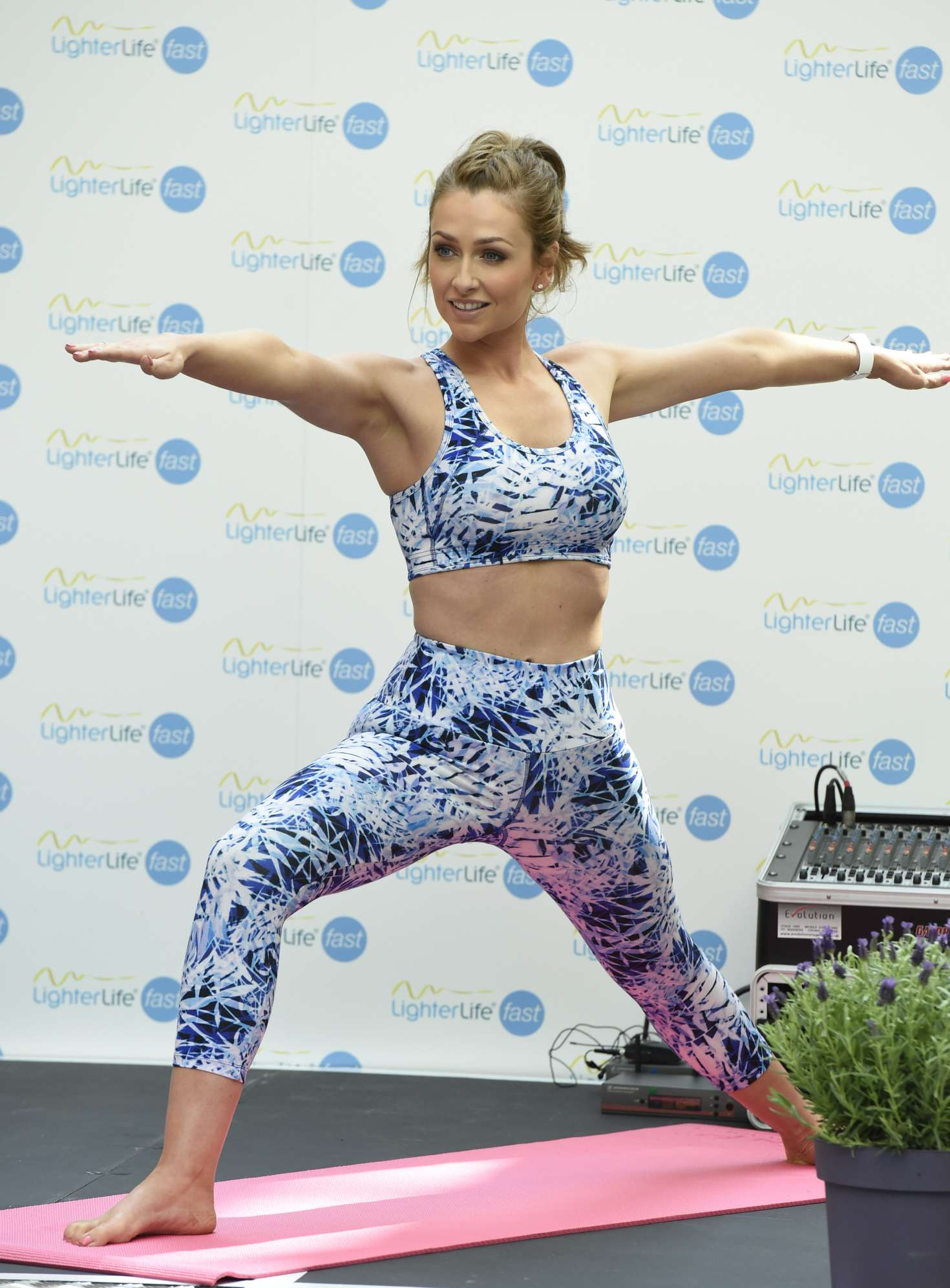 Gemma merna and jennifer metcalfe yoga at the trafford