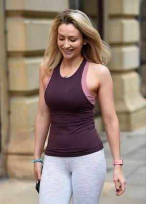 Gemma Merna at Yoga Class in Manchester