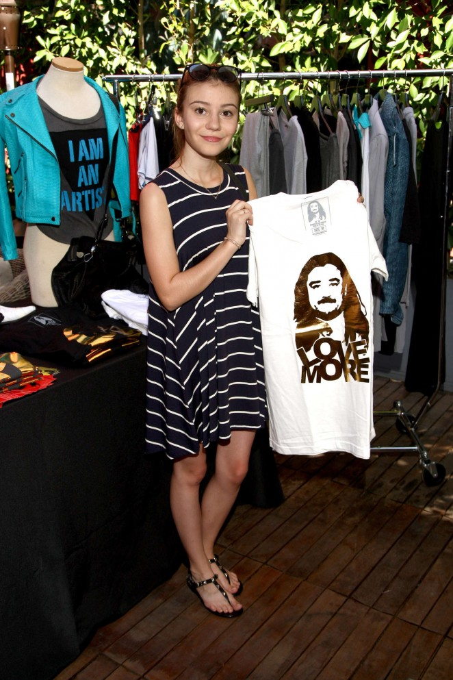 Genevieve Hannelius: GBK and Stop Attack Pre Kids Choice Gift Lounge -04