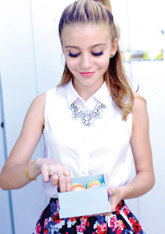 Genevieve Hannelius - Make Me Nails Photoshoot