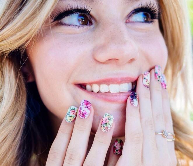 Genevieve Hannelius: Make Me Nails Photoshoot -11 - GotCeleb