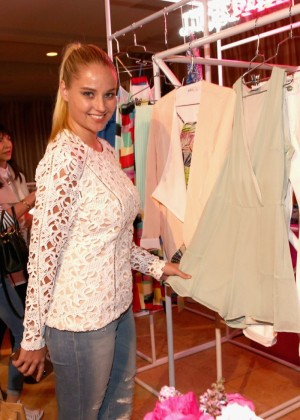 Genevieve Morton - JustFab Ready-To-Wear Launch Party in West Hollywood