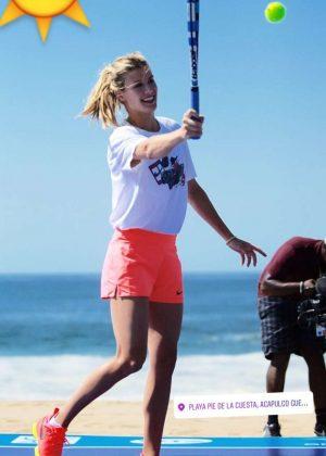 Genie Bouchard at WTA Tournament in Acapulco