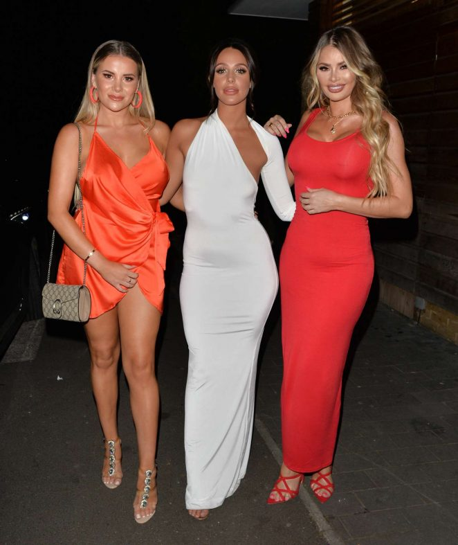 Georgia, Amber and Chloe Sims - Arrive to Amber's Birthday Party in London
