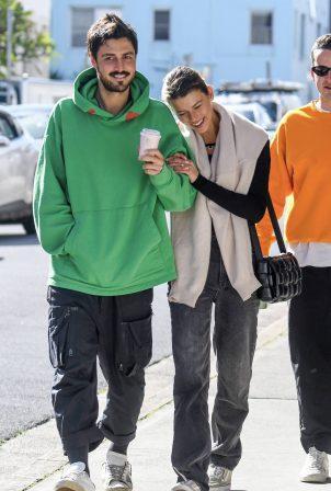 Georgia Fowler and boyfriend Nathan Dalah - Out in Bondi