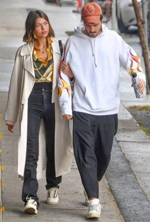 Georgia Fowler and boyfriend Nathan Dalah - Out in Sydney