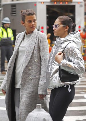Georgia Fowler and Shanina Shaik out in New York City