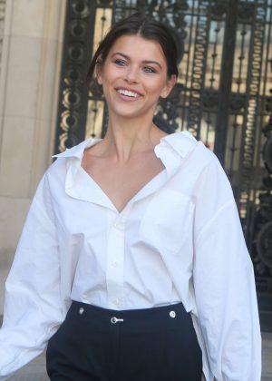 Georgia Fowler - Elie Saab Fashion Show 2018 in Paris