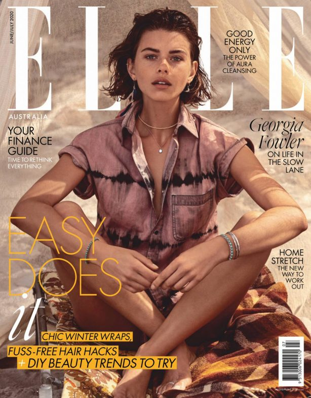 Georgia Fowler - Elle Magazine (Australia June 2020 issue)