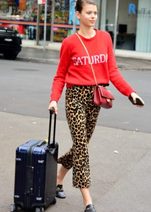 Georgia Fowler headed to the airport in Sydney