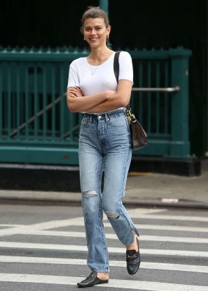 Georgia Fowler in Jeans - Out in New York