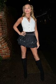 Georgia Harrison - Arriving at Sheesh Chigwell in Essex