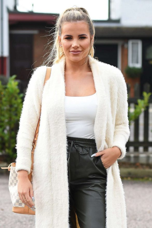 Georgia Kousoulou - The Only Way Is Essex TV Show Filming in Romford