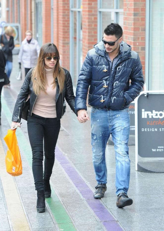 Georgia May Foote and boyfriend Giovanni Pernice Shopping in Birmingham