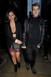 Georgia May Foote with boyfriend Kris Evans - Night out in Manchester