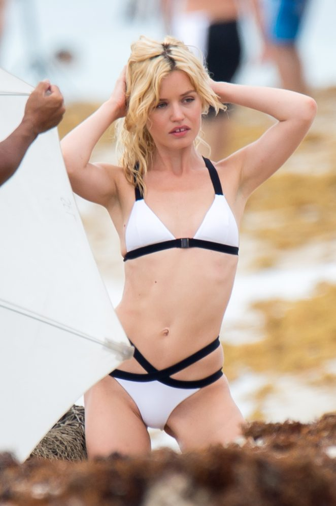 Georgia May Jagger in Swimsuit and Bikini - Photoshoot in Miami