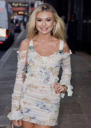 Georgia Toffolo Attends at Kensington Roof Garden party in London