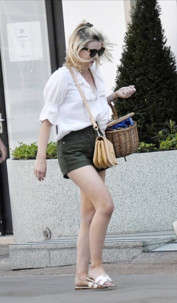 Georgia Toffolo in Shorts - Out in Chelsea