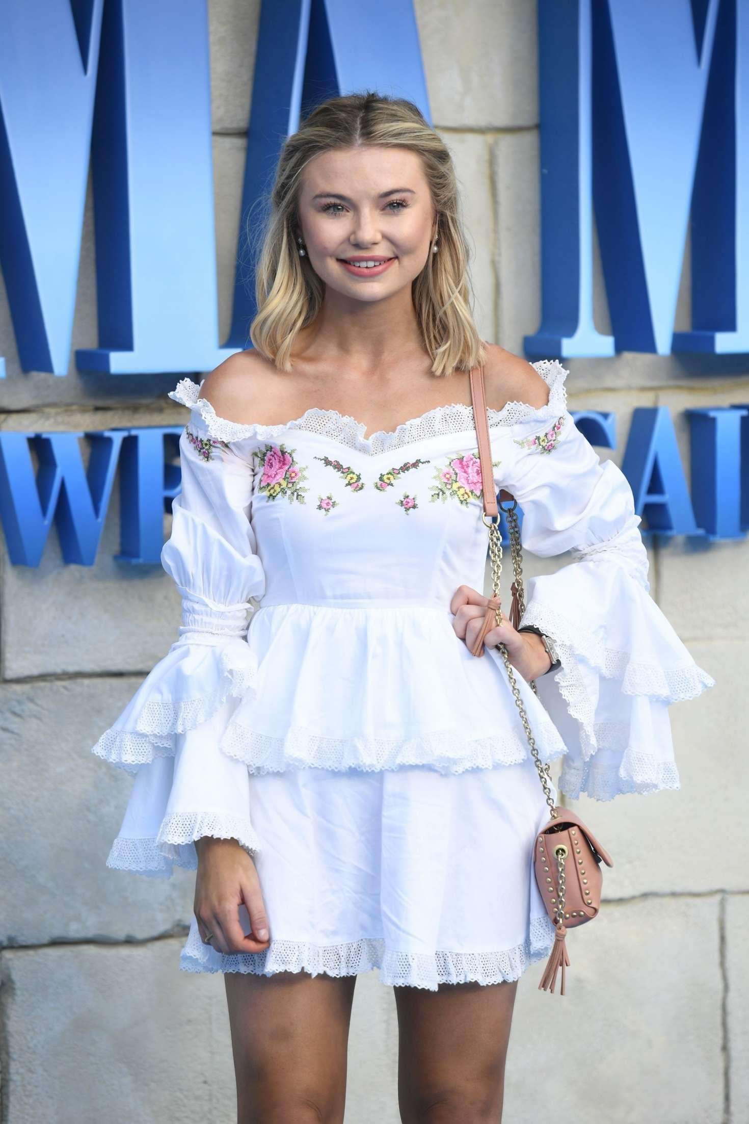 Georgia Toffolo attends the Mamma Mia premiere in London