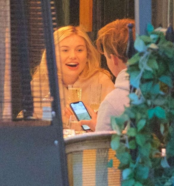Georgia Toffolo - Seen at the restaurant Motcombs in London
