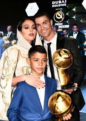 Georgina Rodriguez and Cristiano Ronaldo - Sport Globe Soccer Award 2019 in Dubai