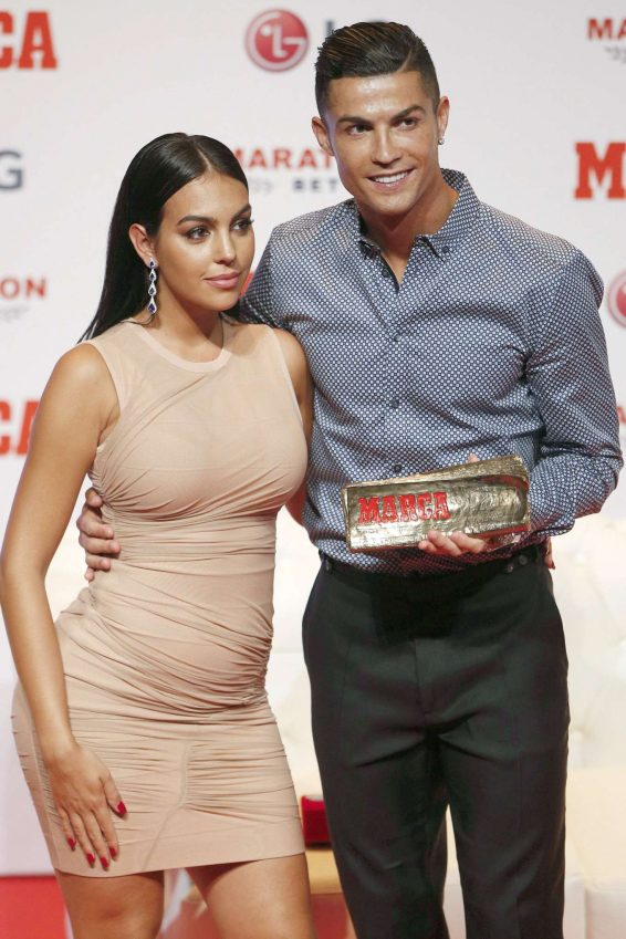 Georgina Rodriguez - Cristiano Ronaldo Receives the 2019 Marca Legend Award in Madrid