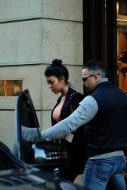 Georgina Rodriguez - Shopping candids in the center with bodyguard