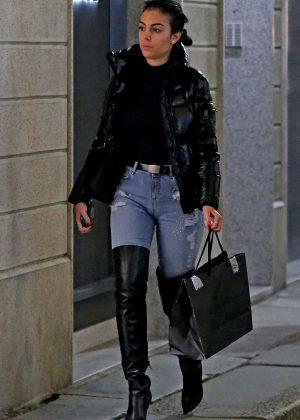 Georgina Rodriguez - Shopping in Milan