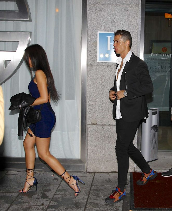 georgina rodriguez with cristiano ronaldo out in madrid