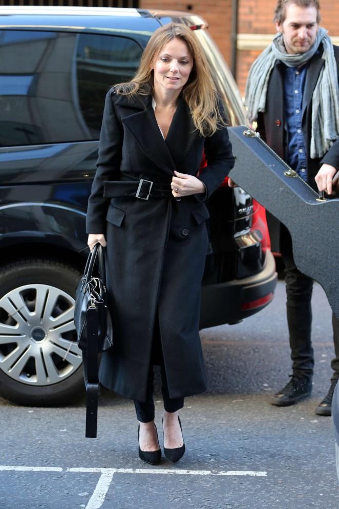 Geri Halliwell Arrives at Warner Music in London