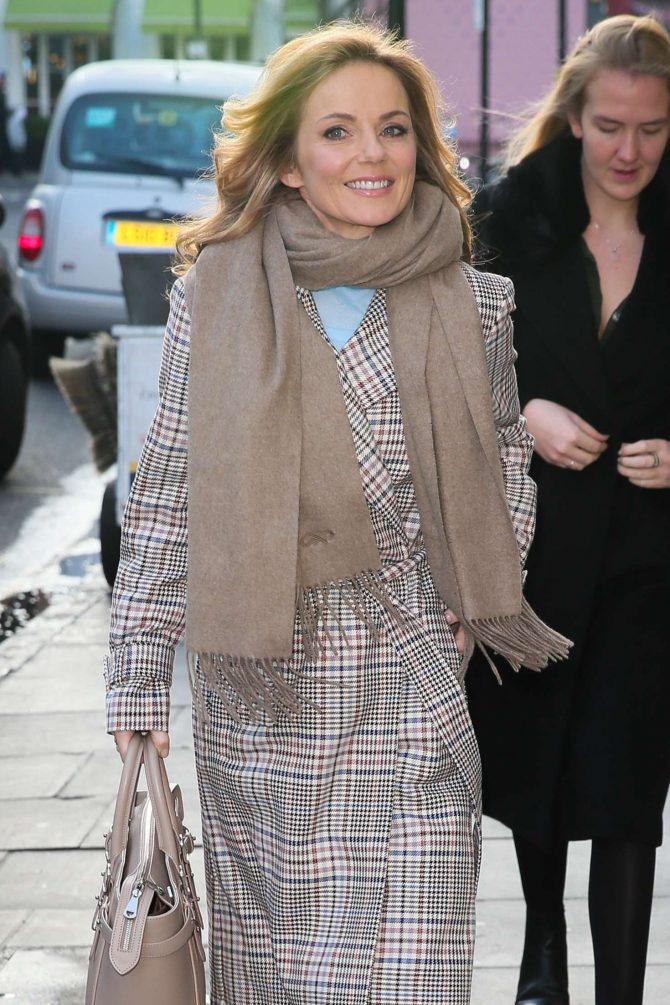 Geri Halliwell - Arriving at Charlotte Street Hotel in London