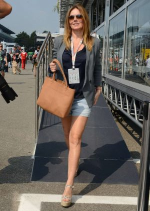 Geri Halliwell at Monza F1 Grand Prix in Italy