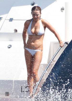Geri Halliwell in White Bikini in St. Tropez