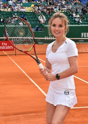 Geri Halliwell - Charity Tennis Event at Rolex Masters Tournament in Monte Carlo