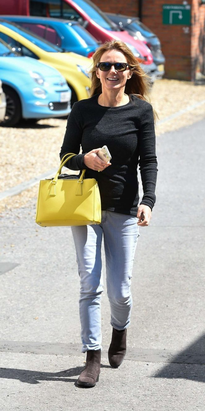 Geri Halliwell - In Jeans Out And About In Yattendon