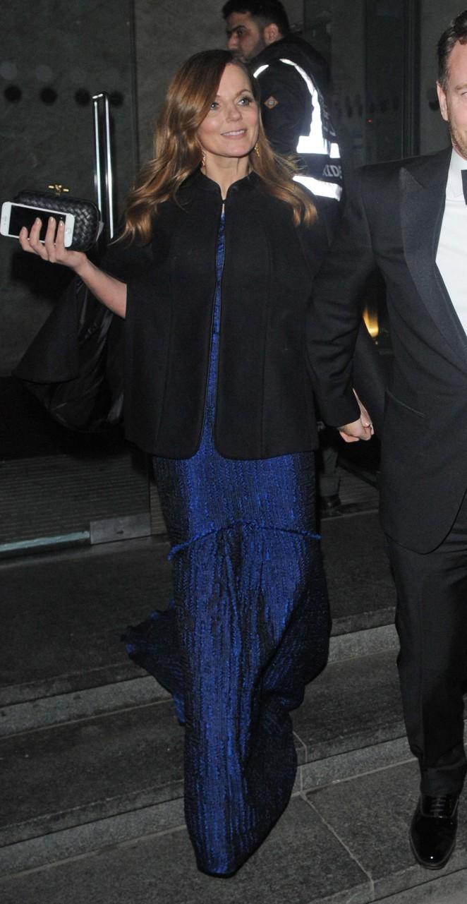 Geri Halliwell - Leaving the Prince's Trust Gala Dinner in London